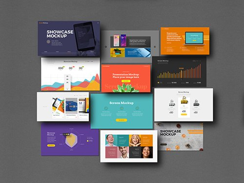 Presentation Showcase Mockup Set 329871143 PSDT