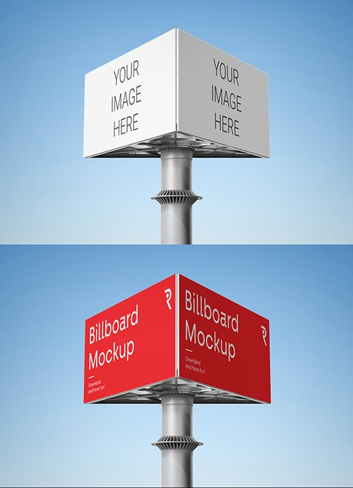 Triple Billboard Mockup 336172801 PSDT