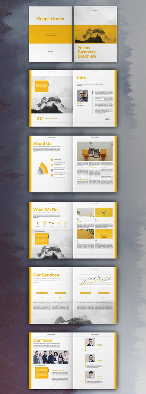 Yellow Business Brochure Layout 335042462