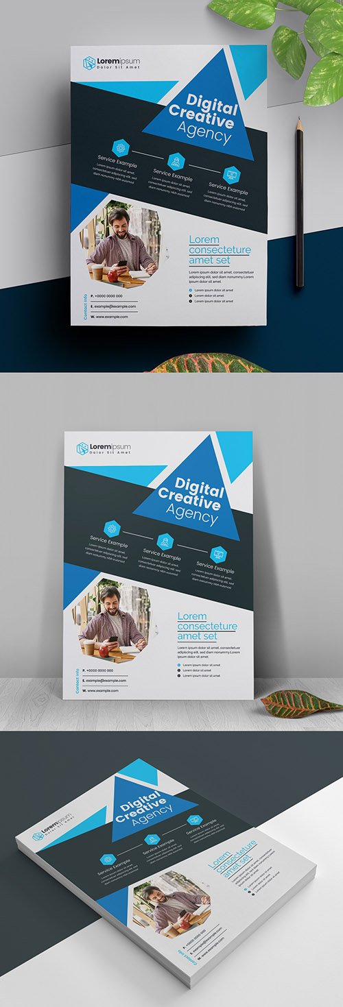 Blue Business Flyer Layout 317788462