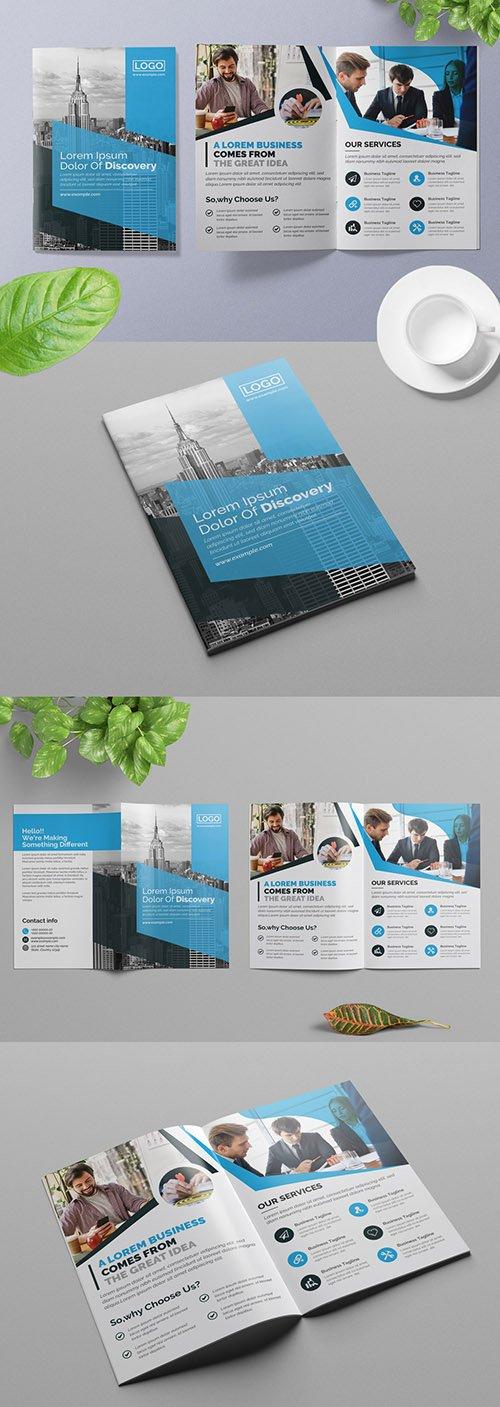 Blue Business Brochure Layout 313886145