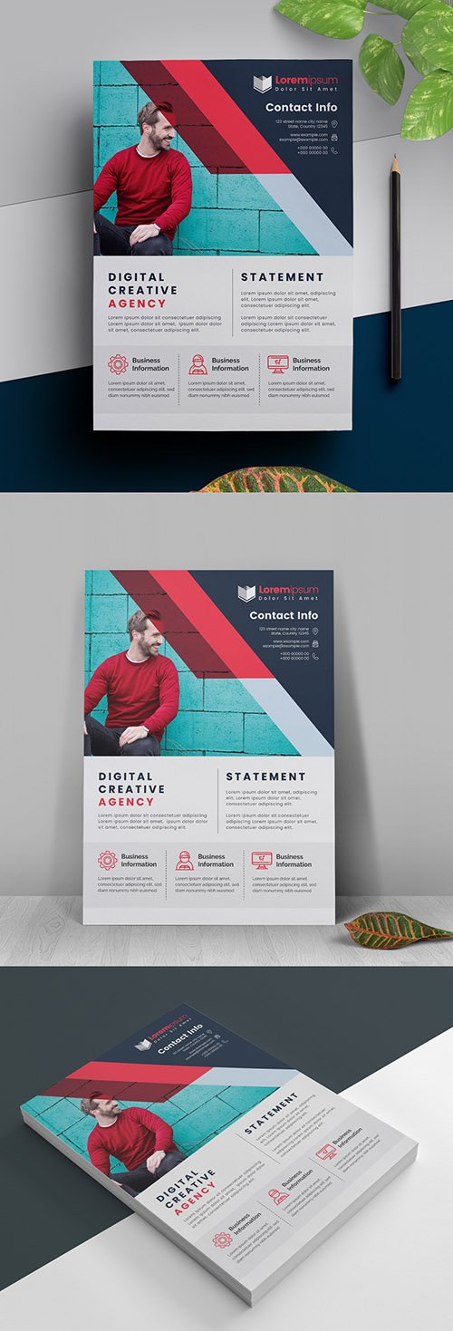 Corporate Flyer with Red Accents 317788416