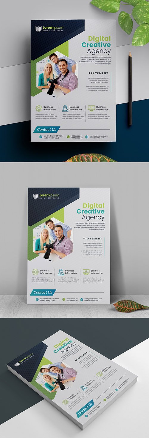 Simple Business Flyer Layout 317788326