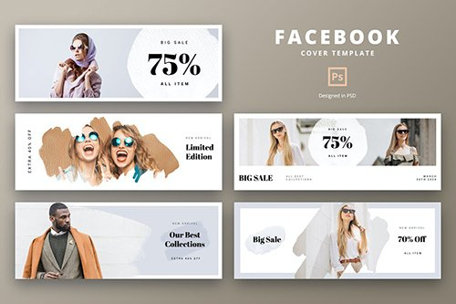 Facebook Cover Template Summer Fashion