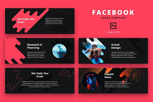 Facebook Cover Template Digital Agency
