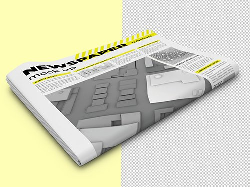 Folded Newspaper Mockup 333544823