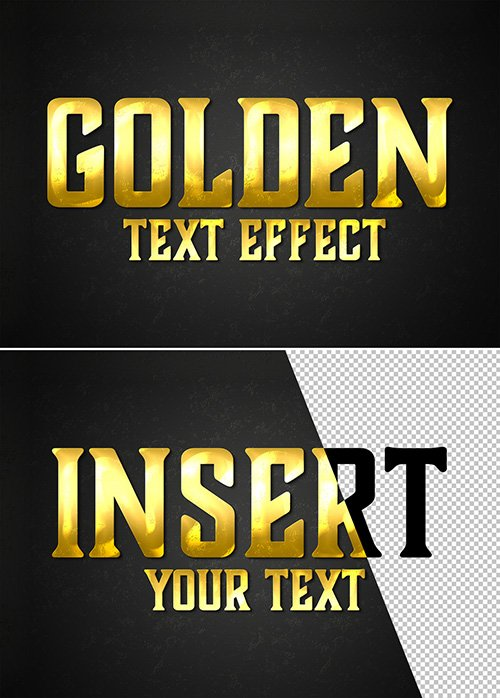 Gold Style Text Effect Mockup 333526896