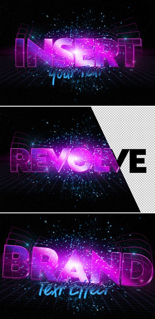 Neon Purple Text Effect Mockup 333526067