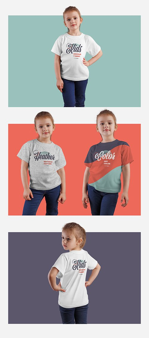 4 Kids T-Shirt Mockups 332472097