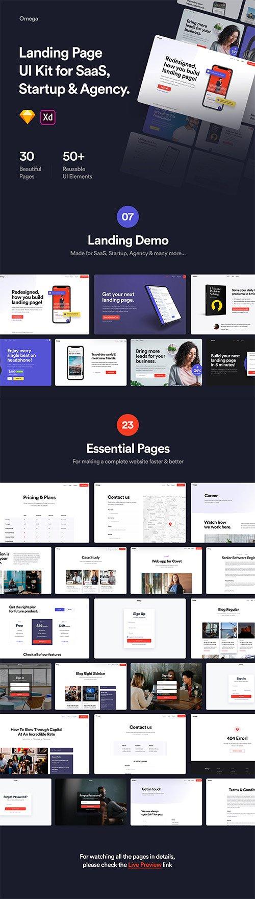 Omega - Landing Page Design Template
