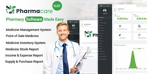 CodeCanyon - Pharmacare v9.1 - Pharmacy Software Made Easy - 19756926 - NULLED