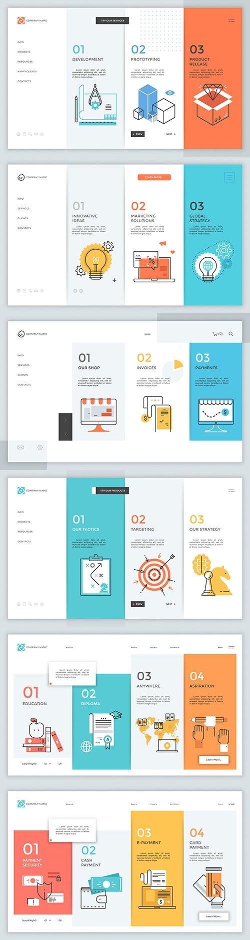 Modern illustration for site design Portfolio Company