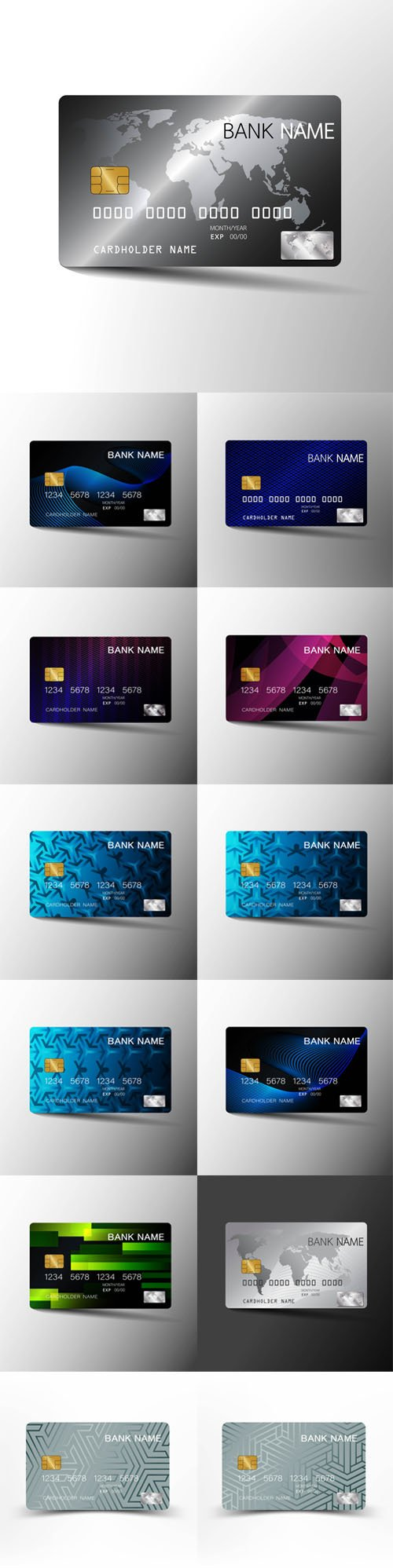 Credit Cards Vector Collection