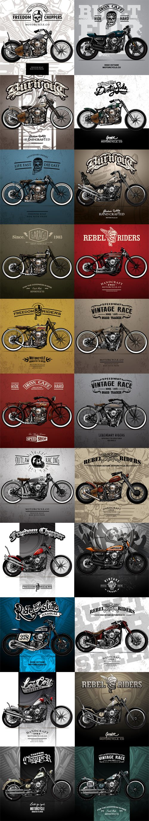 Motorcycle Posters Vector Collection