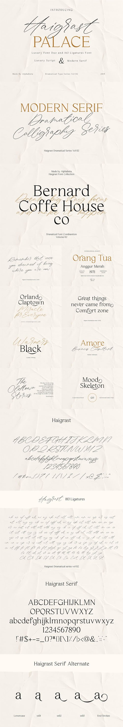Haigrast Palace - Luxury Font Duo and 163 Ligatures Font