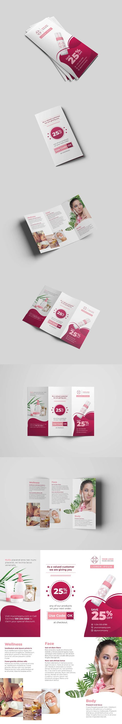 Cosmetic and Beauty Tri-Fold Templates