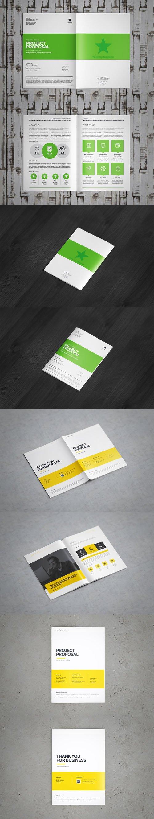 A4 Brochure & Catalogue PSD Mockups