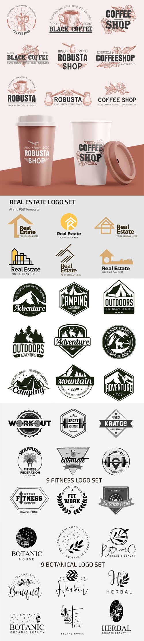 Vector Collection of Logos, Badges and Stickers
