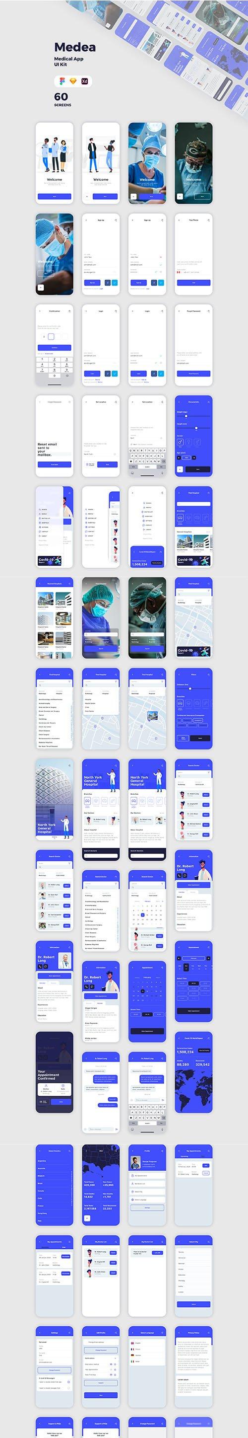 Medea Medical App UI Kit