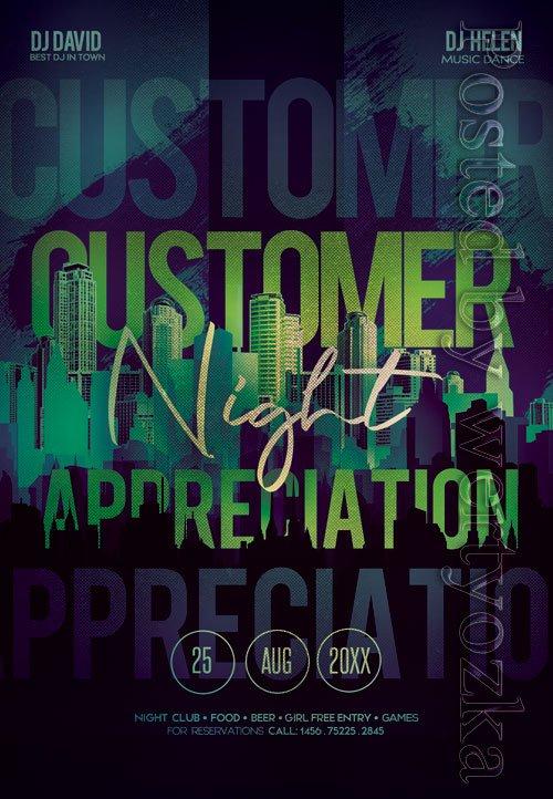 Customer appreciation night - Premium flyer psd template