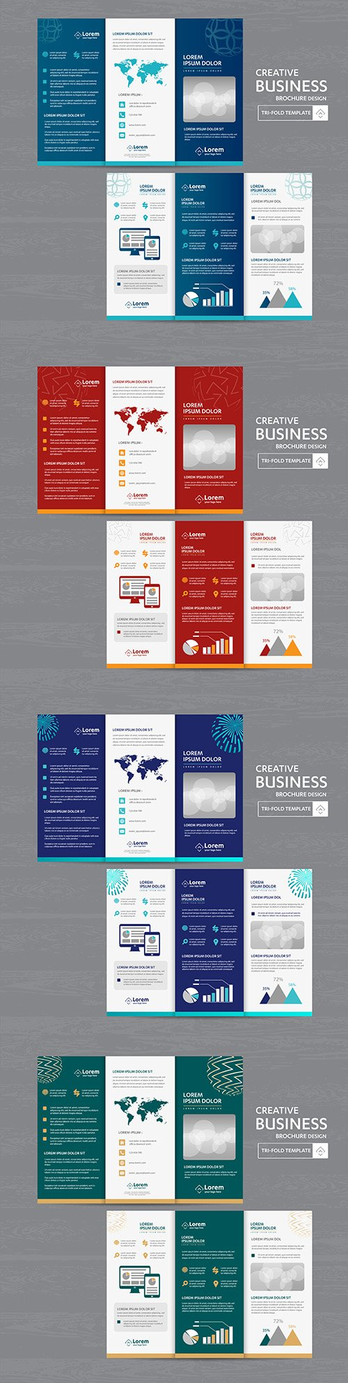 Brochure business three times leaflet design flyer