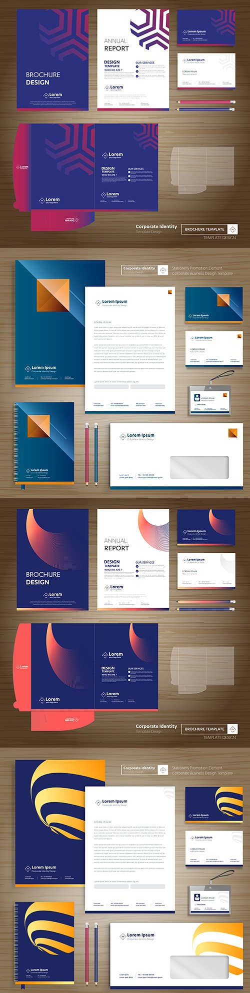 Flyer and cover folder template promotion presentation