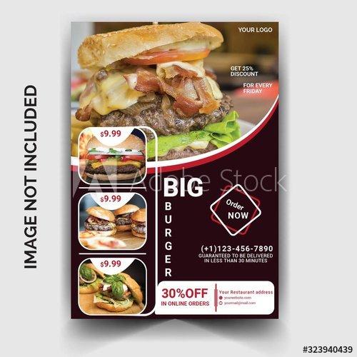Restaurant burger flyer template