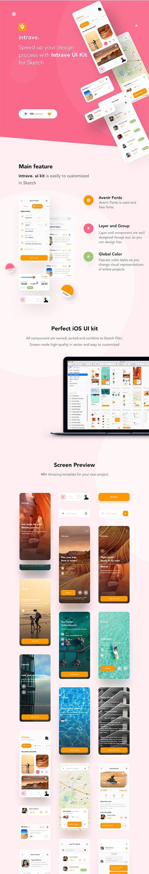 Intrave App UI Kit