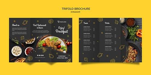 Restaurant brochure PSD template