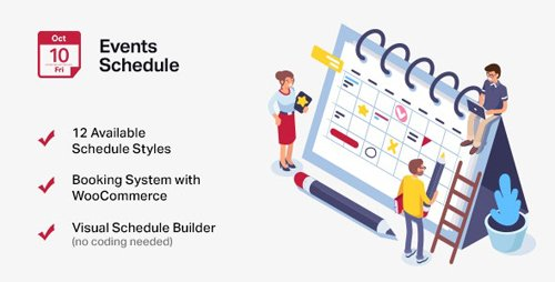 CodeCanyon - Events Schedule v2.5.16 - WordPress Events Calendar Plugin - 14907462