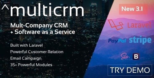 CodeCanyon - Multicrm v3.1.5 - Multipurpose Powerful Open Source CRM. Customer Relation , Email Campaign - 22196657