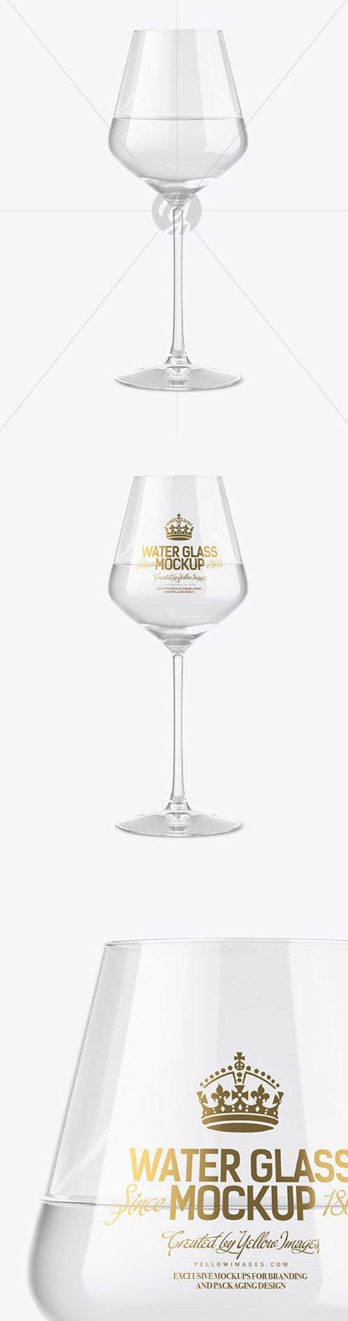 Clear Wine Glass Mockup 51708