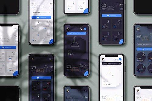 10 Phone Dashboard Smart Home Ui Kit