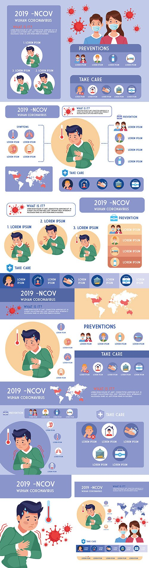 Covid19 pandemic design illustration infographics