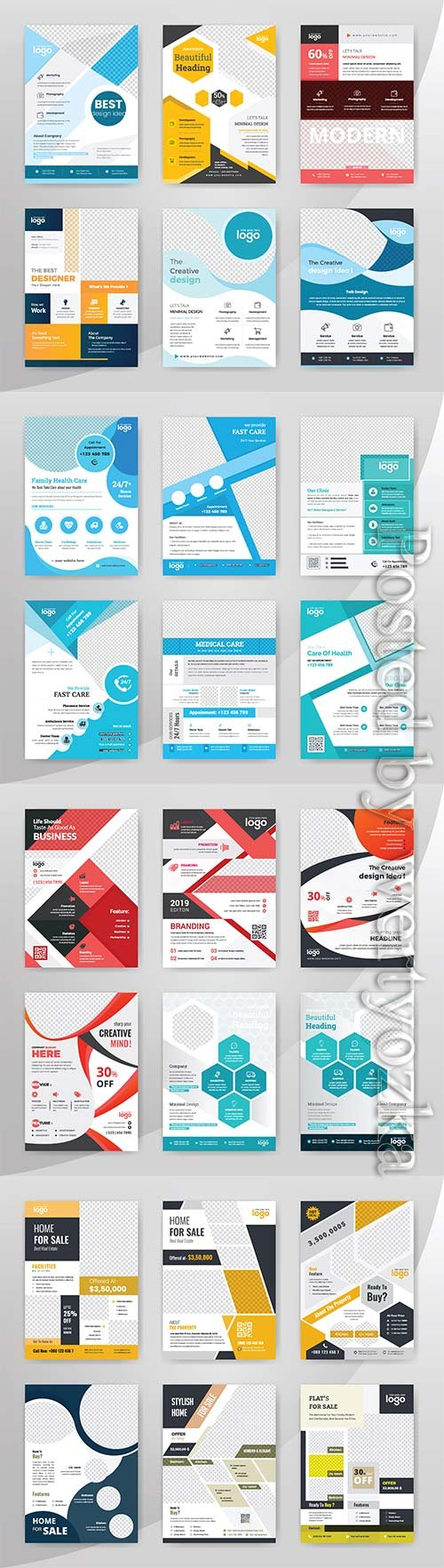 Business vector flyer template. cover modern layout, annual report