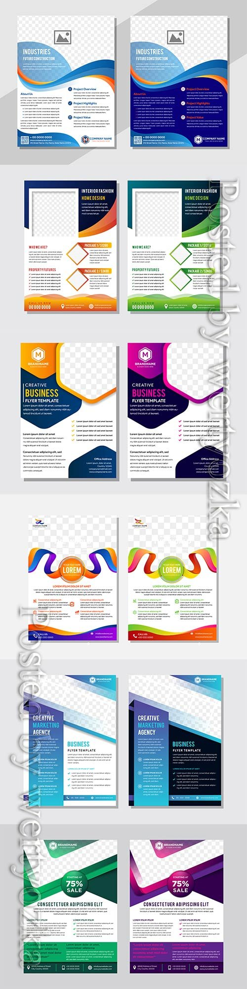 Business vector design template for brochure, flyer