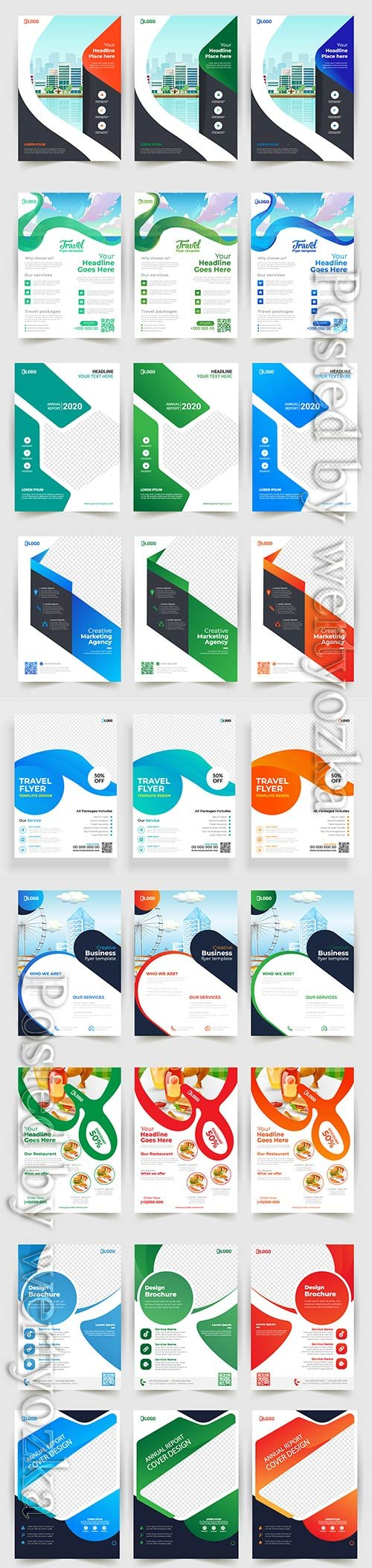 Business vector flyer template design with abstract concept