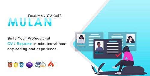 CodeCanyon - Mulan v1.2 - Resume / CV CMS - 23542387