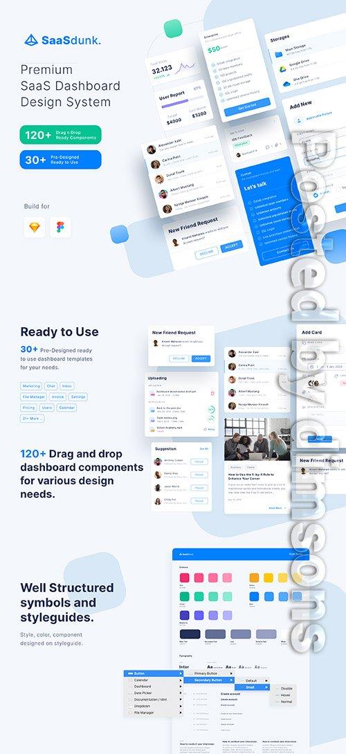 SaaSdunk - SaaS Dashboard UI Kit