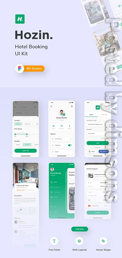 Hozin - Hotel Booking UI Kit