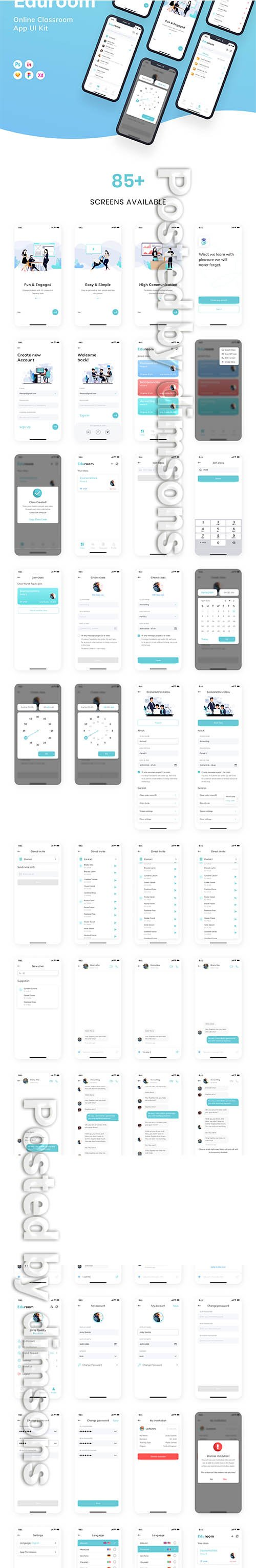 EduRoom - Online Class Room App UI Kit