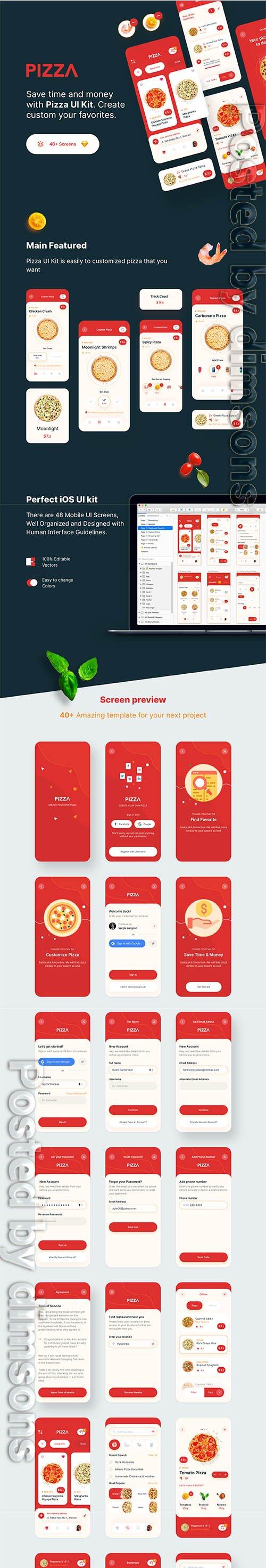 PIZZA App UI Kit