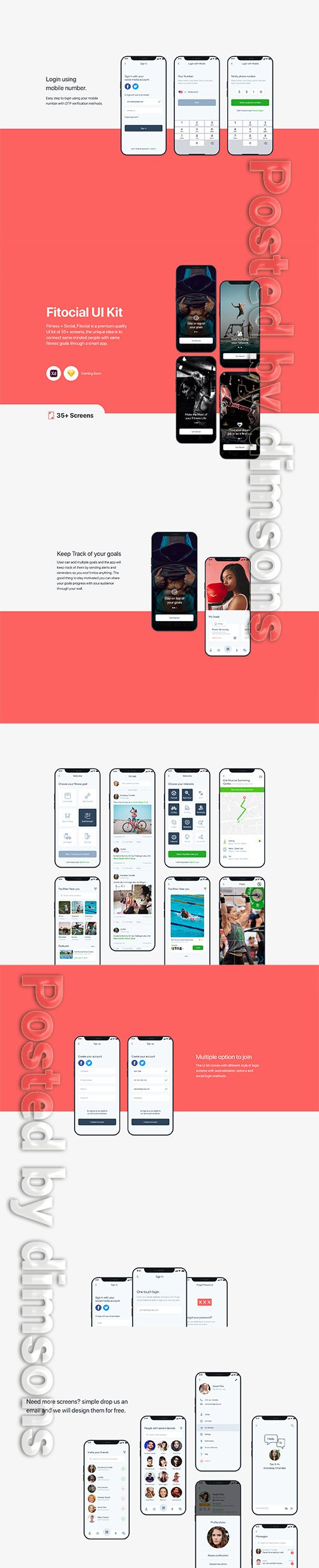 Fitocial UI kit for XD