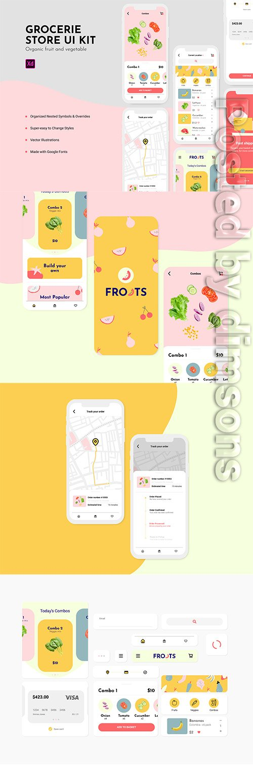 UI KIT FROOTS / Fruit and veg store
