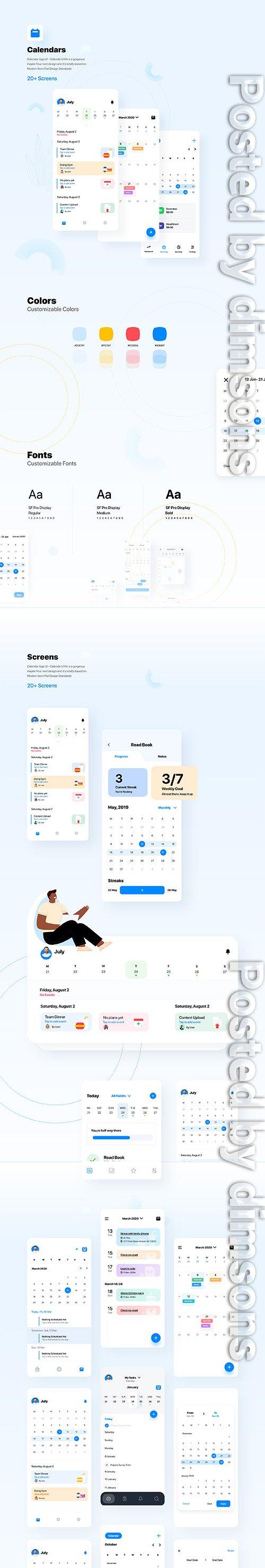 Calendars Ui Screens