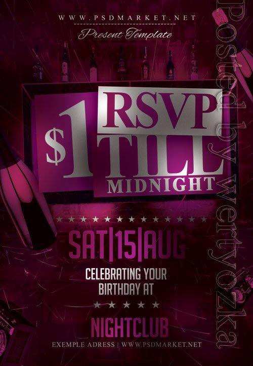 $1 party - Premium flyer psd template