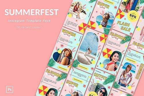 Summerfest - Instagram Template Pack
