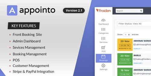 CodeCanyon - Appointo v2.2.2 - Booking Management System - 22989501 - NULLED