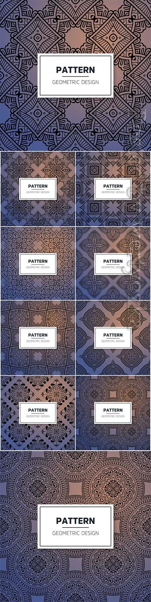Luxury ornamental mandala seamless vector pattern