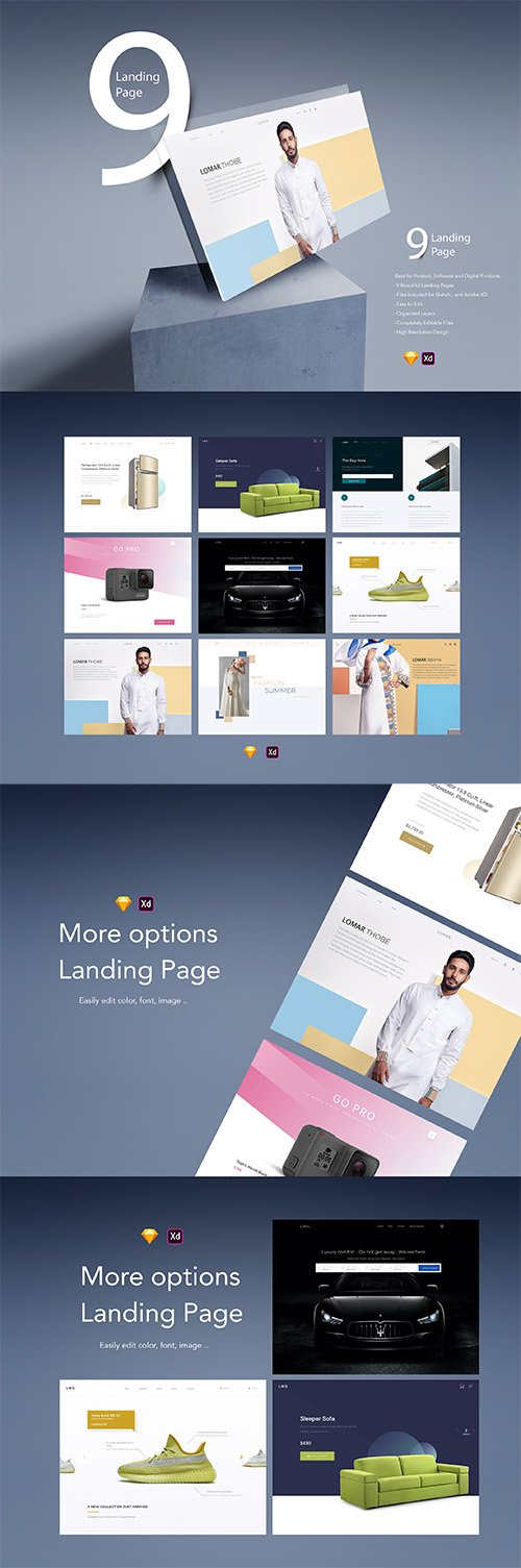 Landing Page UI kit fully compatible